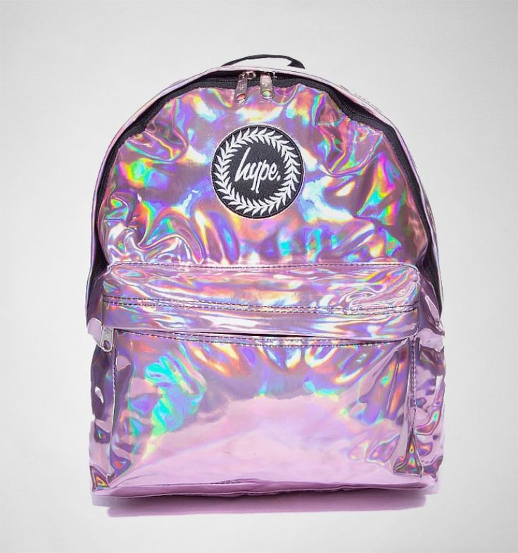 A pink holoraphic Hype backpack will give your outfit a mermaid style. Available now at tReds.co.uk