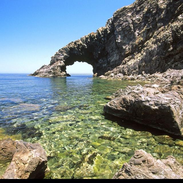 Arco del'Elefante Pantelleria Island Sicily Italy