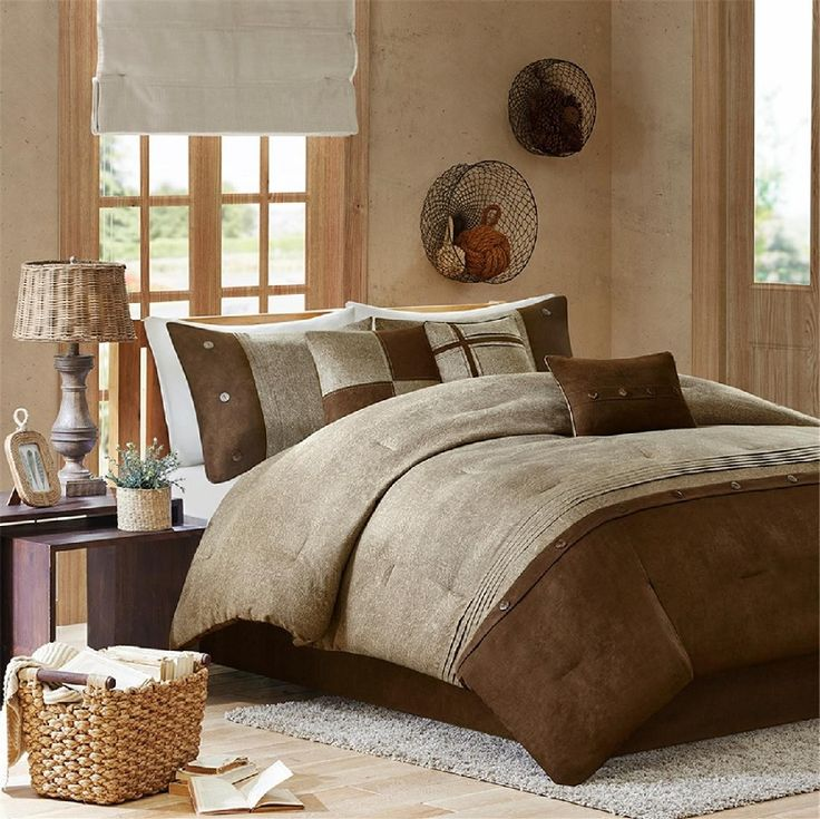 Boone in Chocolate, Browns and Tans Comforter Sets by Madison Park
