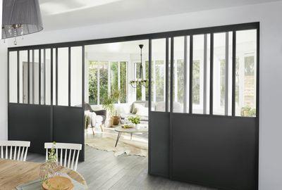 cloison suspendue parenth se verri re sur mesure. Black Bedroom Furniture Sets. Home Design Ideas