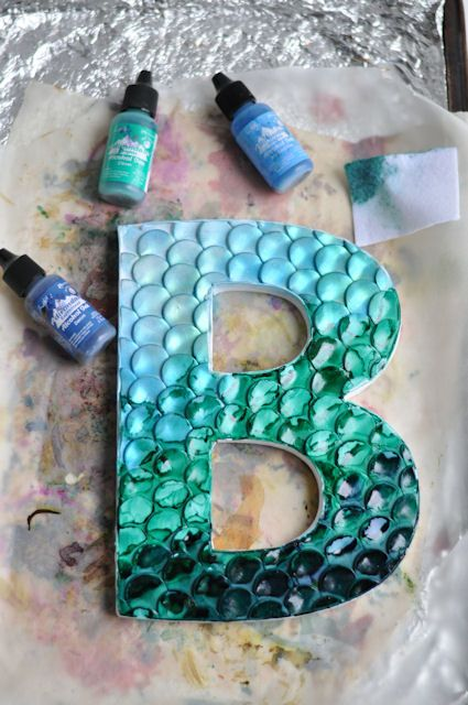 polymer decorated letters by Amy Christie of this heArt of mine blog
