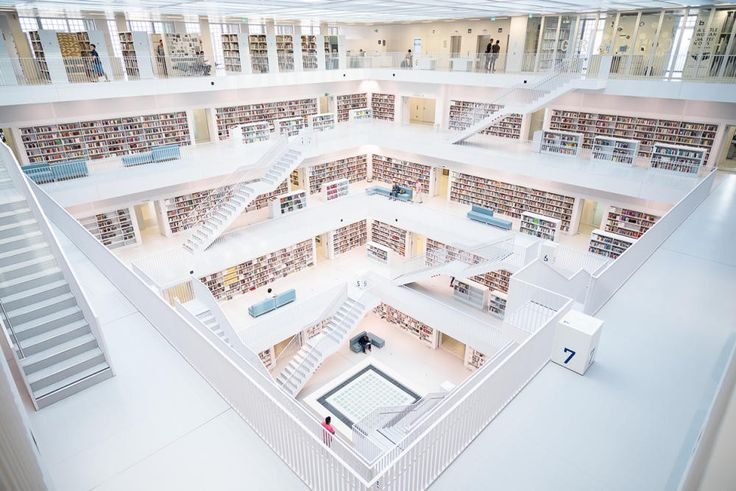 Biblioteka miejska, Stuttgart, Niemcy