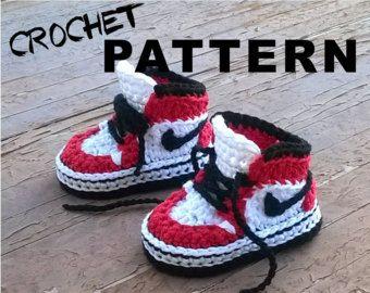 Crochet PATTERN. Air Jordans style baby by ShowroomCrochet on Etsy