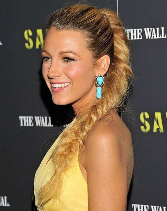 "Clip in FishTail, Clip In Pony Tail, Blake Lively, FishTail Braid, Bohemian Braid, Free People, Blonde Clip In Pony tail, 20"", Human Hair"