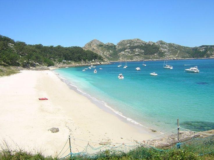 Praia de San Martiño, Illas Cies, (Pontevedra). Galicia. Spain..