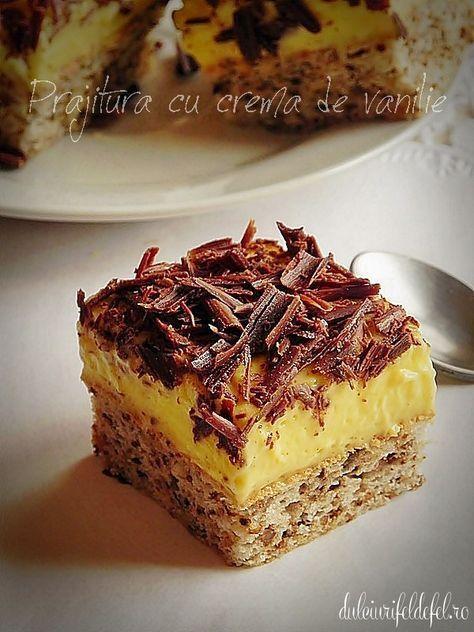 Prăjitură cu crema de vanilie
