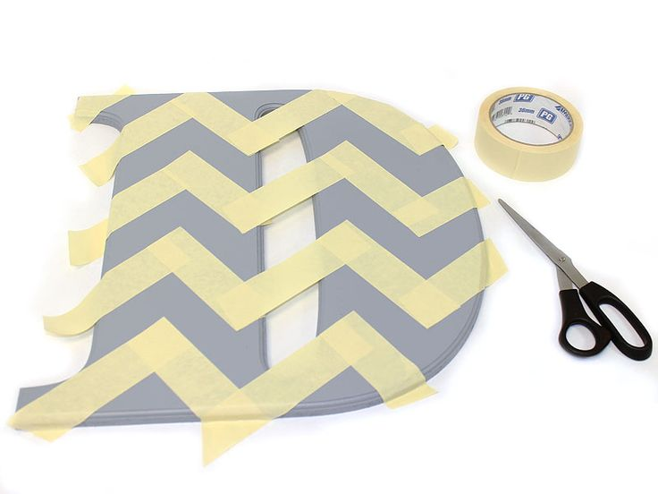 How to Make a Chevron House Number Monogram | Craftcuts.com