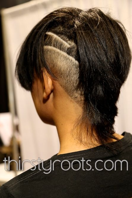 Shaved Side Haircut Black Woman | thirstyroots.com: Black Hairstyles and Hair Care