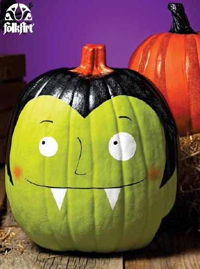 Plaid® Frightfully Fun Pumpkins #halloween #craft #pumpkin #pumpkindecorating