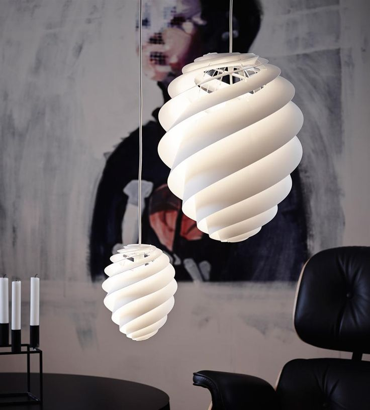 Contemporary Interior lighting with creative swirl lamps by Le Klint