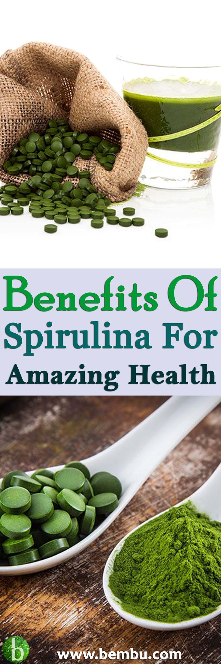 You might have heard of spirulina. This blue-green cyanobacteria became famous after being successfully used by NASA ... Health Tips │ Health Ideas │Healthy Food │Health │Food │Drinks │Healthy Oil │Healing │Natural Remedies #Health #Ideas #Tips #Healthyfood #Food #Vitamin #Healing #Drinks #Remedies #Healthyoil