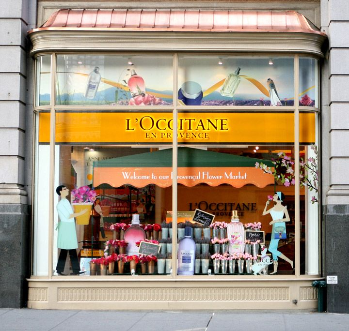 Lu2019Occitane en Provence flower market windows by Sheridan, New York : Display windows : Pinterest ...