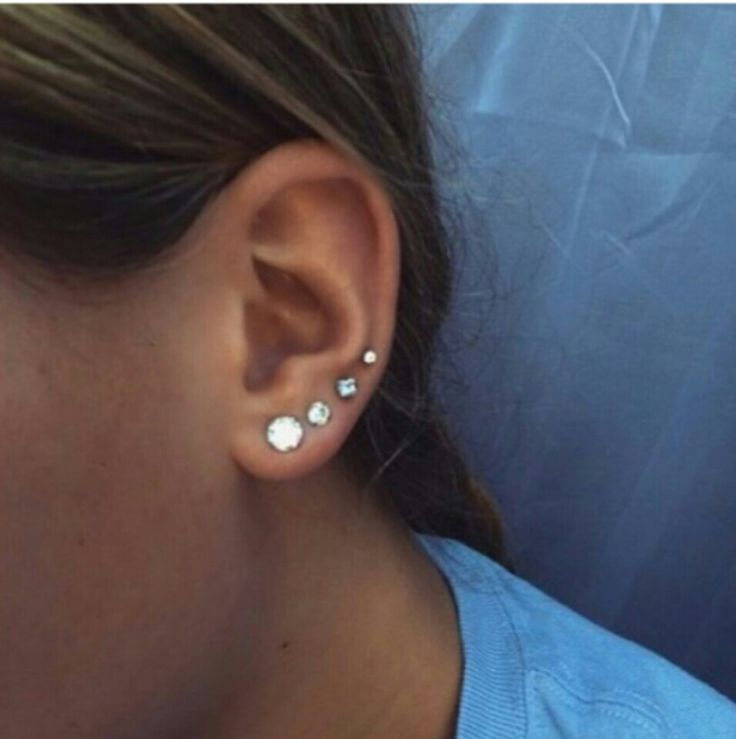 Four ear piercings goals | Tattoos and Piercings ...