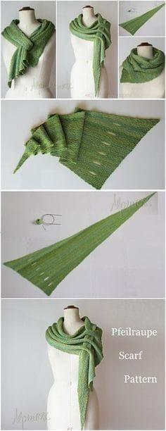 Kostenlose Anleitung für verstellbaren Schal – Pfeil Raupe Vielleicht auch aus Wolle