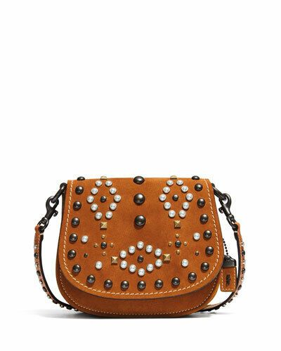 7f23cff16 Coach 1941 Suede Western Rivets 17 Saddle Crossbody Bag | Women's ...