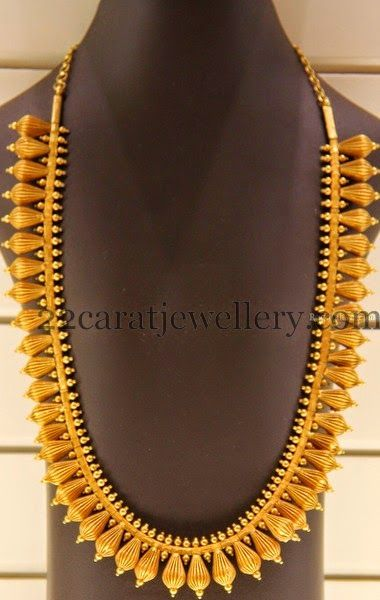 Jewellery Designs: Large Gold Mala by Kirtilal Jewellers