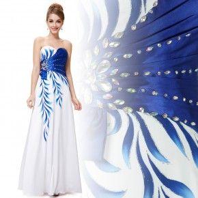 Bílé společenské šaty Ever-Pretty