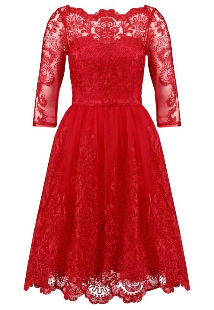 abiti col pizzo che conquistano partykleid rot anziehen rote