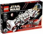 Limited Edition Tantive IV Manufacturer: LEGO Series: LEGO Star Wars Building Sets Release Date: September 2009 Card Number: 10198 Pieces: 1408 For ages: 4 and up UPC: 673419121842 Details (Description): The Star Wars saga begins! Blasting through space with Darth Vaders Star Destroyer in pursuit, the Tantive IV blockade runner carries Princess Leia, C-3PO and R2-D2 on a vital mission for the Rebel Alliance. Celebrate the entire Star Wars saga with this all-new version of the very first ...