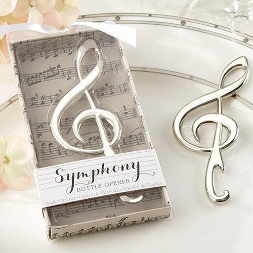 Symphony Music Note Bottle Opener by Beau-coup. Would be a neat wedding favor.