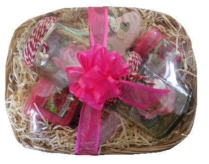 Pink Dragon Fruit Yankee Candle Gift Basket