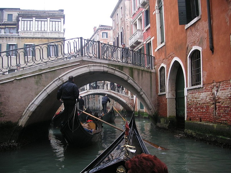 Gondola rides in Venice Italy