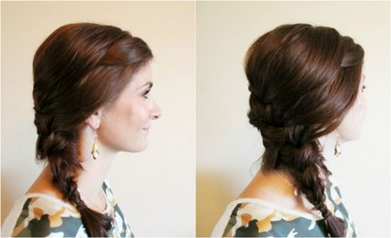 simple and easy french braid hairstyle for girls by clip in brown natural hair extensions