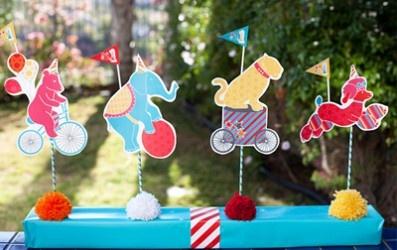 Decoraciones Fiesta Circo | Descargables Gratis para Imprimir: Paper toys, Origami, tarjetas de Cumpleaños, Maquetas, Manualidades, decoraciones fiestas, dibujos para colorear. Printable Freebies, paper and crafts