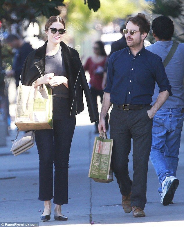 No wonder she's smiling! Mandy Moore and her rumoured beau Taylor Goldsmith went shopping in Beverly Hills on Thursday
