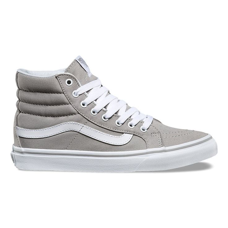 Vans sk 8 hi slim drizzle / true white Sized in womens Sizing