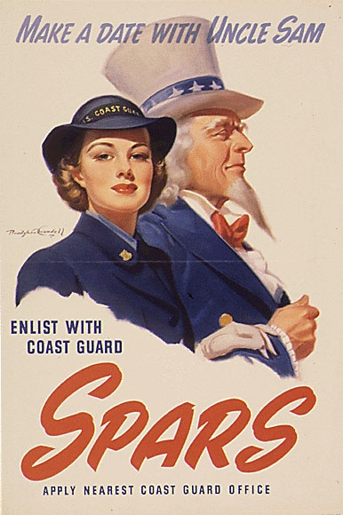 SPARS recruitment poster. National Archives.