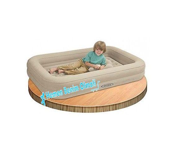Intex Çocuk Seyahat Şişme Yatak Seti 107x168x25cm