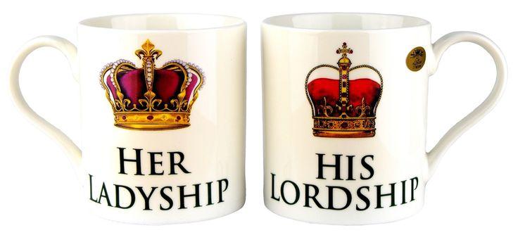 """His Lordship &, motivo: """"Her Ladyship"""", in porcellana Fine, Set da 2 tazze a singole confezioni regalo: Amazon.it: Casa e cucina"""