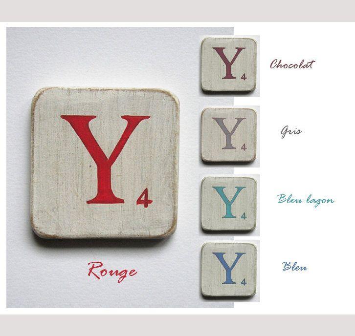 lettres déco de table en bois 5 cm bleu lagon patiné lettre blanc