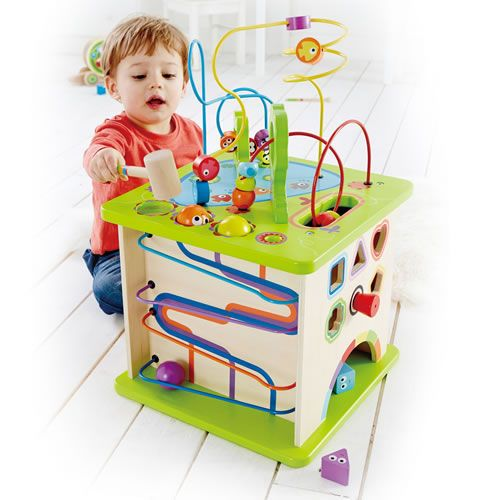 Country Critters Play Cube encourages manual dexterity, hand-eye coordination and learning cause and effect! #finemotorskills