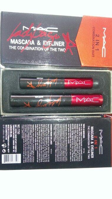 15$ each mac ladygaga 2 in 1 eyeliner and mascara