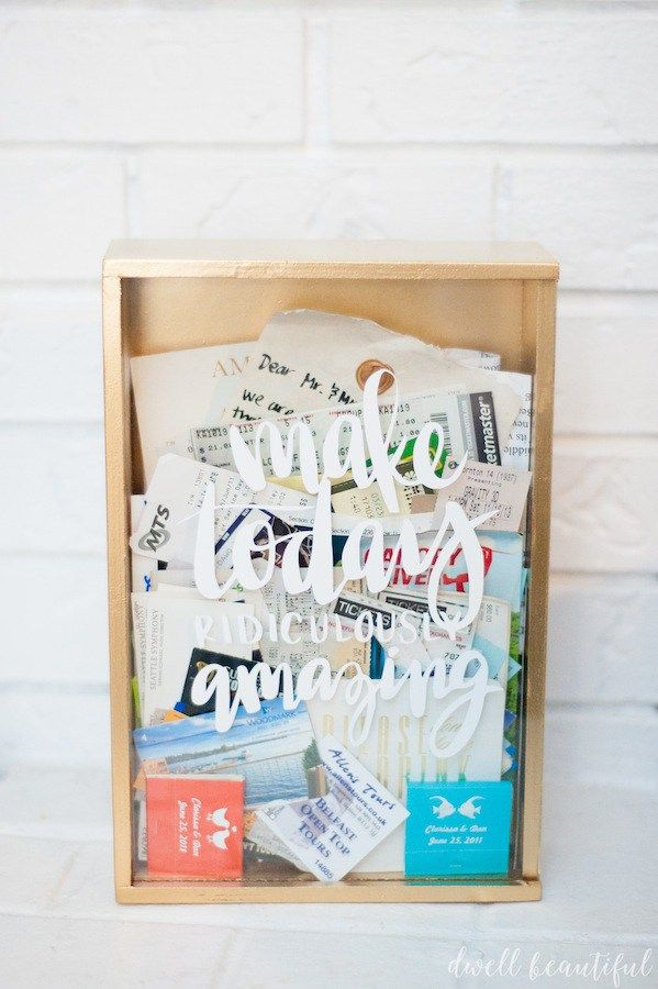 Craft Redux - Ticket Memory Box - Dwell Beautiful