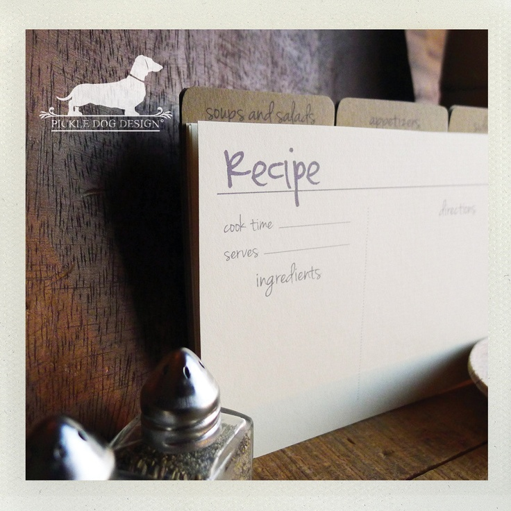 (Qty 13) Set of 4x6 Recipe Cards -- (Simple, Classic, Wedding Gift ...
