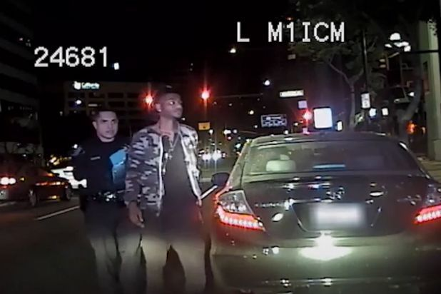 """Empire"" star Taraji P. Henson's claim that her son was racially profiled during a traffic stop in Glendale, California last year is in question after police released dash cam video of the Oct. 18 incident. In an edited version of the 40-minute video obtained by the L.A. Times, Marcel Henson is shown running a yellow light at a crosswalk where a pedestrian is attempting to cross."