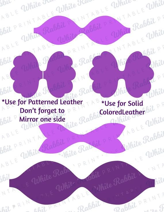 Scalloped Bow Template Digital File Svg Bow Template