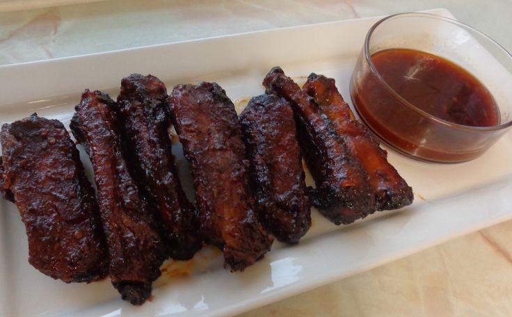 Juicy Jerk Rum Ribs with BBQ Rum Sauce