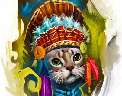 """Check out new work on my @Behance portfolio: """"Cat"""" http://be.net/gallery/35733261/Cat"""