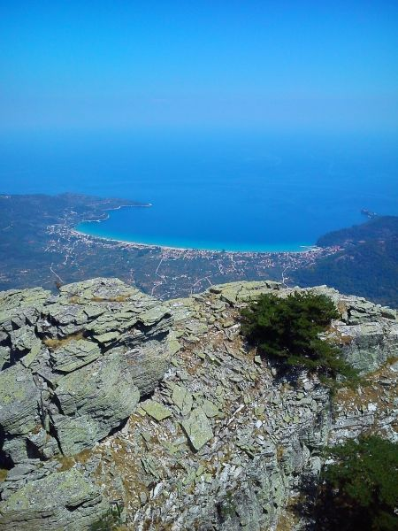 From the top of Mount Ipsarion, Thassos Island, Macedonia Greece