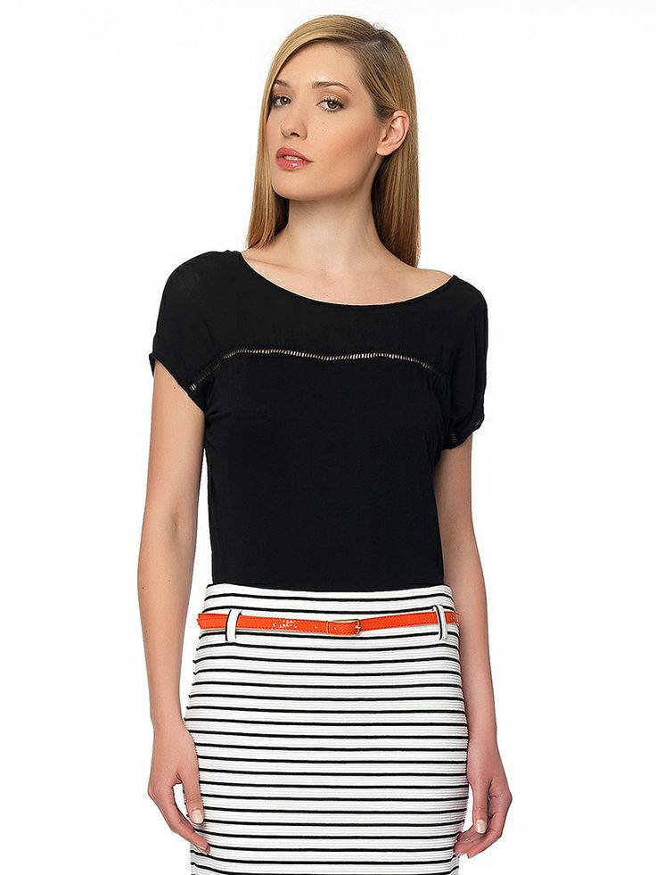 #elegant_top & #striped_skirt and #office_mood is in the air!