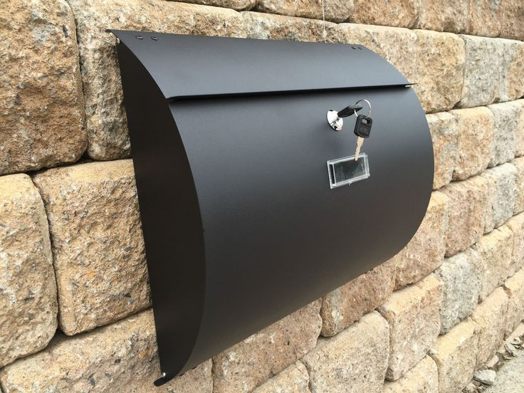 mpb1402b semi curve lockable mailboxes painted black stainless steel modern urba in home u0026 garden - Lockable Mailbox