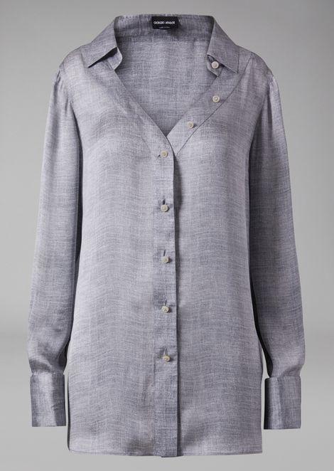 5d76206850ac5 Υπερμεγέθη πουκάμισο από μετάξι