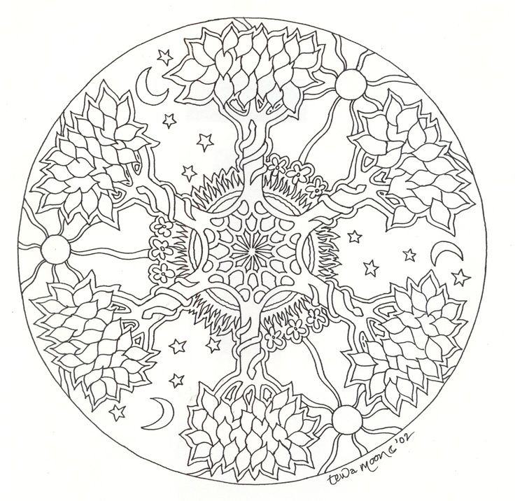 Coloring Pages Of Le Trees : Best 25 celtic mandala ideas on pinterest irish celtic tattoos