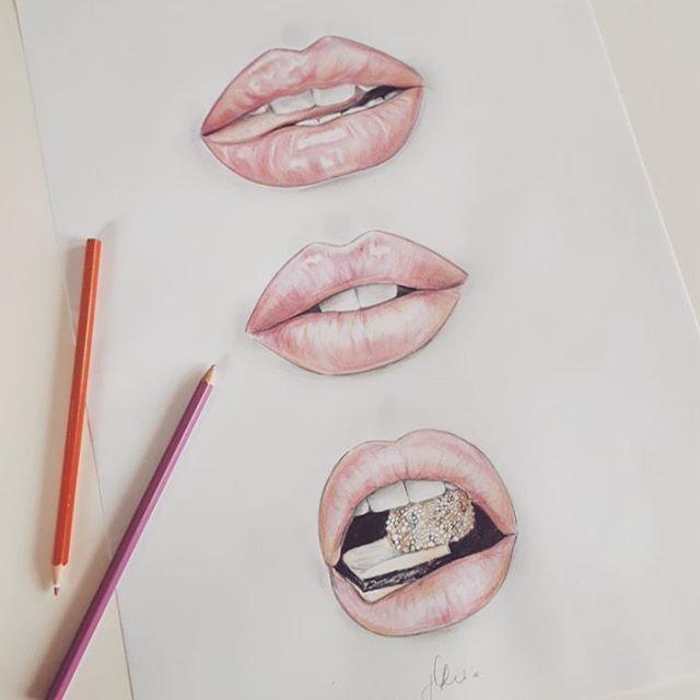 Lips zeichnen