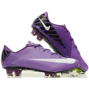 New Mens Soccer Cleats Nike Mercurial Vapor SuperFly III FG In Purple White Black