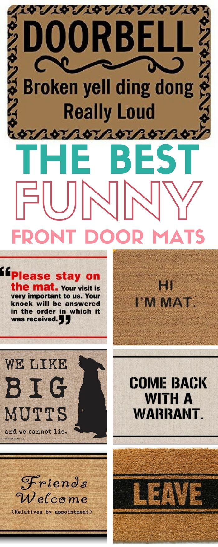 Funny Front Door Mats | Hilarious Doormats | Outdoor Decor | For the Porch